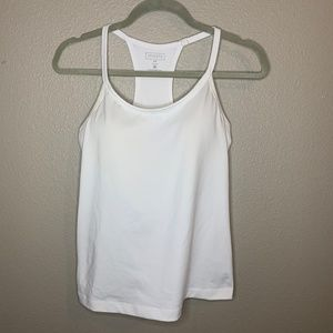 Athleta Woman's White Tank with built in bra 34C